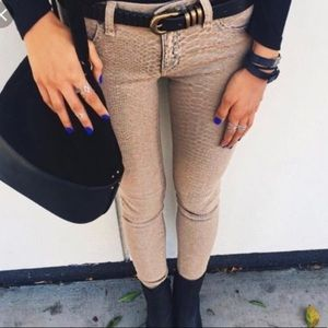 Carmar snake skin jeans